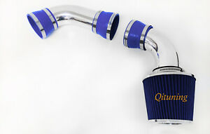Blue Cold Air Intake System Kit For 1996 2005 Chevy Blazer Pickup 4 3l V6