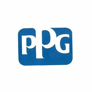 Ppg Refinish Stwbl02 Ppg Logo 4 X 4 Blue And White Decal Sticker