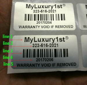 5000pcs Customized Removed Tamper Proof Evident Warranty Stickers1 57 0 79