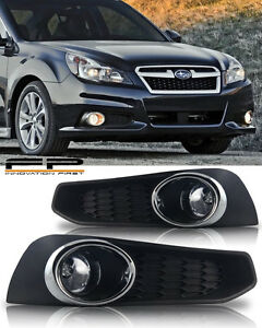 For 2013 2014 Subaru Legacy Bm9 Clear Fog Lights Complete Kit Switch harneess