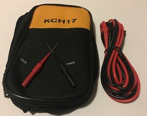 Kch17 Soft Case With Fluke Test Lead 224 And Unbranded Piercing Needle Test Prob