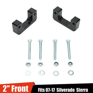 Black 2 Front Leveling Lift Kit For Chevy Silverado Gmc Sierra Gm 1500 Lm 07 17