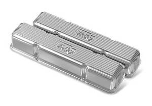 Holley 241 244 Sbc Vintage Series Finned Valve Covers Polished Finish