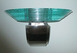 Lightolier Scallini Pair Of Wall Sconces Glass Chrome Pre Owned Circa 1980 S