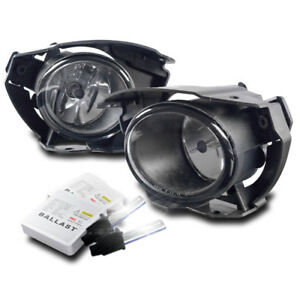 Front Bumper Chrome Driving Fog Lights Lamp W 6000k Xenon Hid For 2015 2016 Juke