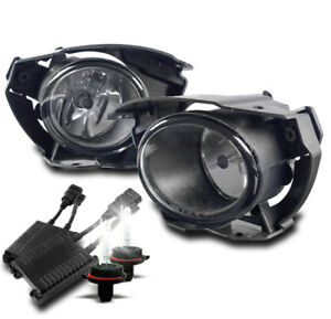 Front Bumper Chrome Driving Fog Lights Lamp 50w 6k Xenon Hid For 2015 2016 Juke