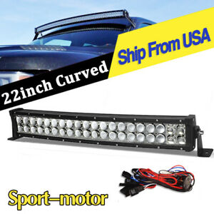 4x Red 51w Round Led Light Pod 7 Spot Work Off Road Fog Roof Bar Bumper Driving