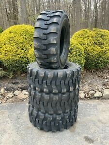 4 New 14 17 5 Skid Steer Tires 14x17 5 16 Ply Rating for John Deere New Holland