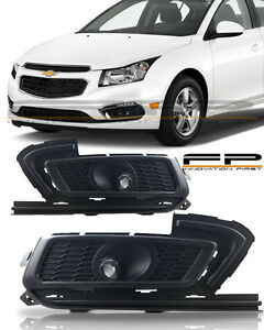 2015 2016 Chevy Cruze Fog Lights Clear Lamp Bulbs wiring Harness switch kit