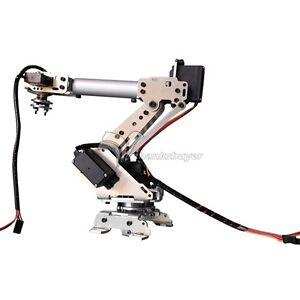 New 6 axis Stainless Steel Robot Arm Metal Robotic Manipulator With Servos Diy