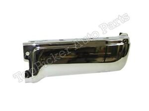 For 2009 2014 Ford F150 Styleside Rear Bumper End Chrome W O Sensor Hole Rh