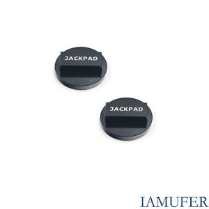 2 Packs High Quality For Bmw Aluminum Jack Pad Anodized Black Functional