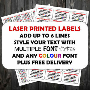 Personalised Any Colour Printed Sticky Address Labels Stickers