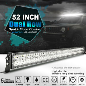 672w 50inch 7d Curved Led Light Bar Cree Spot Flood Combo Offroad 4wd Truck 52