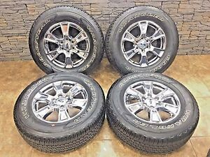 18 18 Inch Oem Chrome Ford F150 Wheels Goodyear Wrangler Tires 275 65r18 Rims 4