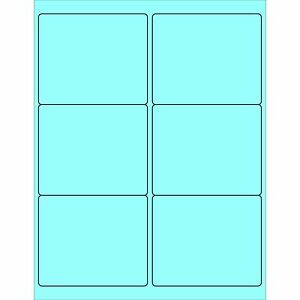 Partners Brand Pll180be Rectangle Laser Labels 4 X 3 1 3 Pastel Blue pack O