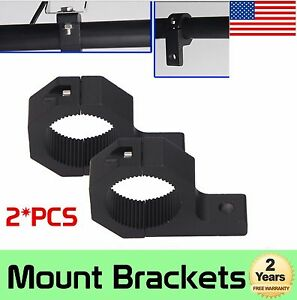 2x 1inch 2inch Bull Bar Roll Tube Mounting Bracket Clamps Led Light Bar Offroad