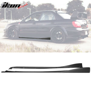 Fits 02 07 Subaru Impreza Wrx Sti Cs Style Side Skirts 2pc Polyurethane Pu