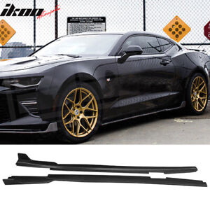 Fits 16 19 Chevy Camaro Ikon Style Side Skirts Body Kit Polypropylene pp