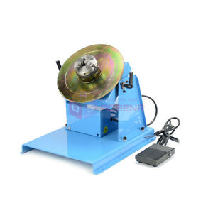 New Rotary Welding Positioner By 10 Turntable Table Mini 2 5 3 Jaw Lathe Chuck