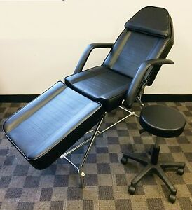Adjustable Exam Medical Dental Chair And Portable Stool black brand New