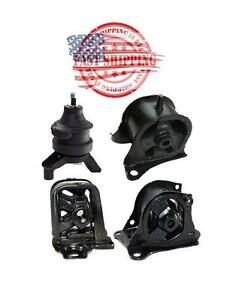 New Engine And Transmission Mounts 4pc Kit For Honda Prelude 2 2l 1997 2001