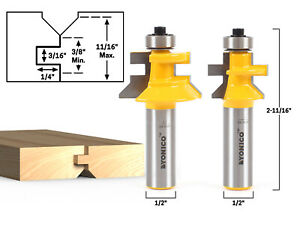 Flooring 2 Bit Tongue And Groove V Notch Router Bit Set 1 2 Shank Yonico 15
