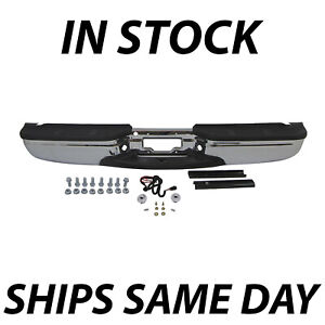 New Chrome Rear Step Bumper Assembly For 1999 2007 Ford F250 F350 Super Duty