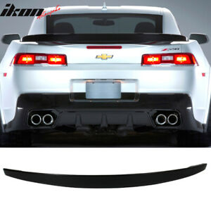 Fits 14 15 Chevy Camaro Z28 Style Rear Trunk Spoiler Painted Wa8555 Gloss Black