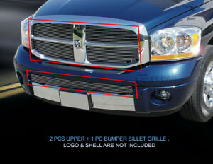 Billet Grille Grill Combo Grill For Dodge Ram 1500 2006 2007 2008