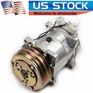 A C Compressor And Clutch For Sanden Sd508 For Jeep Wrangler 2 5l Ac