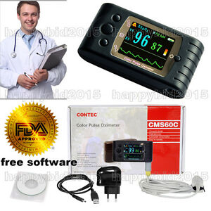 Fda Approved Pulse Oximeter Blood Oxygen Spo2 Monitor Pulse Rate Usb sw