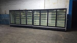 Glass Door Reach In Commercial Freezer Or Cooler Display Case W Led 5 Doors