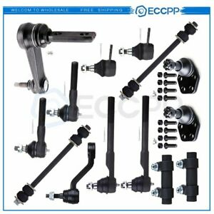 14pcs For 2000 2001 2002 Dodge Ram 2500 3500 Front Ball Joint Tie Rods Sway Bars
