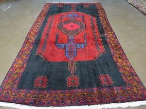 5 X 9 Antique Hand Made Persian Tribal Kurd Bidjar Bijar Goltog Wool Rug Nice