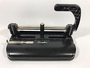 Vintage Swingline 3 Hole Punch Model 350 400 Black Metal Heavy Duty