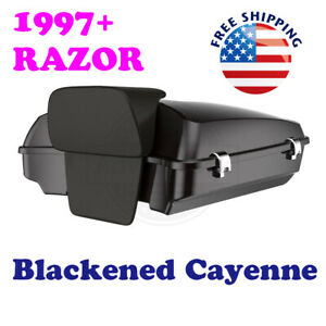 Blackened Cayenne Razor Tour Pak For Harley Touring Street Electra Road 14 19