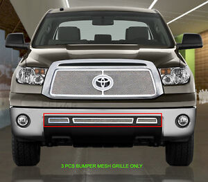 Mesh Grille Grill Bumper Stainless Steel For Toyota Tundra 2010 2011 2012 2013