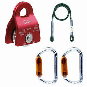 Tree Climbing Kit For Outdoor Worker Pulley System 30 Prusik Pulley Arborist