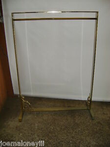Gold Brass Color Finish Retail Wide Garment Rack