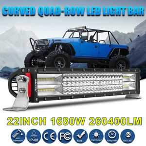 8d 32 In 1080w Cree Tri Row Led Light Bar Combo Work Offroad 4x4wd Driving 30 34