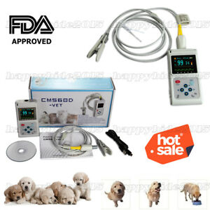 Fda Veterinary Use Fingertip Pulse Oximeter Spo2 Blood Oxygen Monitor battery