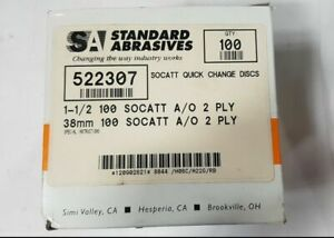 100 Pcs Standard Abrasives Socatt Quick Change Disc Scotch 522307 1 1 2 2 Ply