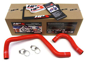 Hps Silicone Radiator Hose Kit For Honda 88 00 Civic B18 B20 Red 91 92 93 97 98