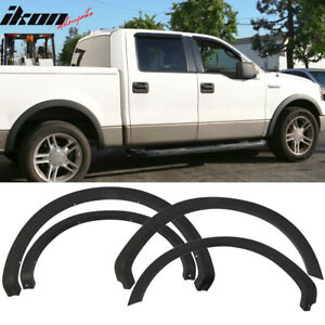 Fits 04 08 Ford F150 4pc Unpainted Black Oe Style Fender Flares Wheel Cover Pp