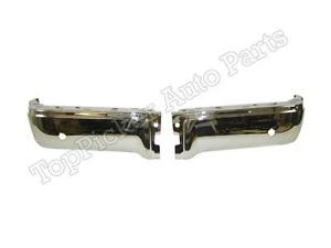 For 2009 14 Ford F150 Styleside Rear Bumper End Cap Chrome With Sensor Hole Set