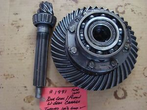 Ford 1600 Tractor Diff Carrier Ring Gear Pinion Set Ref Sba322050031