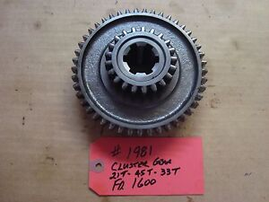 Ford 1600 Tractor Transmission Cluster Gear 21t 45t 33t Ref Sba322360051