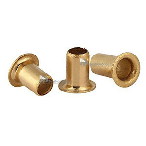 M3 M4 Brass Metric Grommets Eyelet Rivets Through Nuts Hollow Hole Fasteners Diy