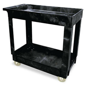 Rubbermaid 300 Lb Capacity Service Utility Cart black 9t6600bla New